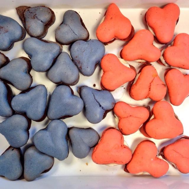 wedding heart macarons