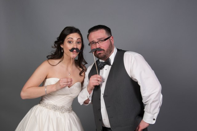Wedding photo booth mustaches